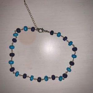 ALV Jewels blue beaded choker